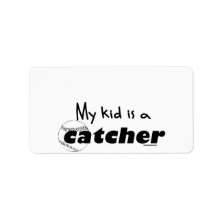 My Kid is a Catcher Label