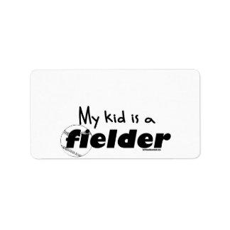 My Kid is a Fielder Label