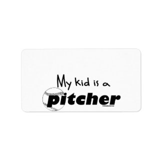 My Kid is a Pitcher Label