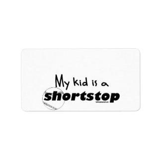 My Kid is a Shortstop Label