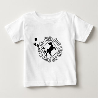My Kid Just Walk All Over Me (Goat Kids) Infant T-shirt