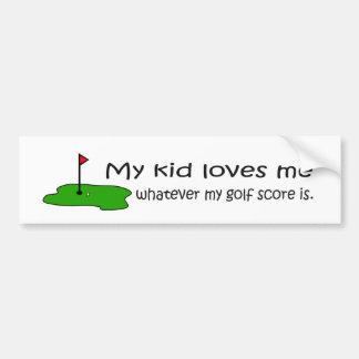 My Kid Loves Me Bumper Sticker