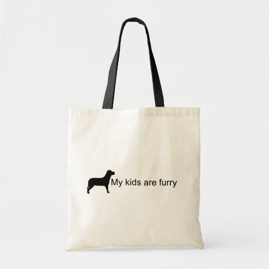 My Kids Are Furry (Dog Silhouette) Bag