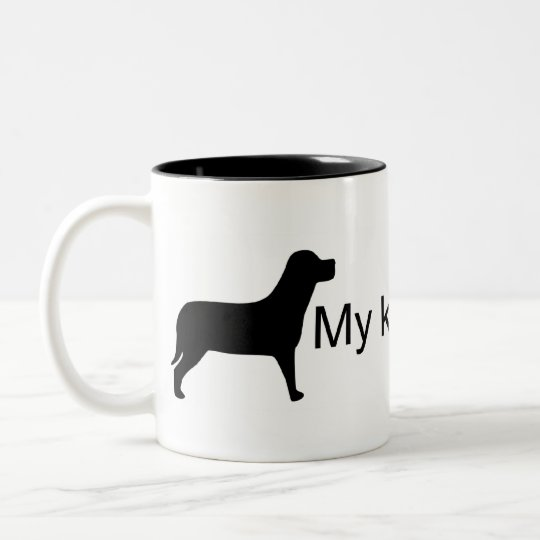 My Kids are Furry (Dog Silhouette) Mug
