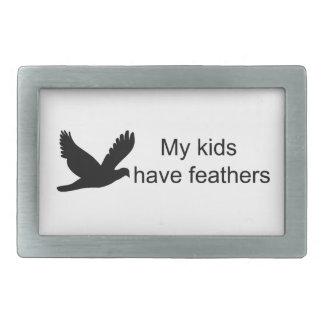 My Kids Have Feathers (Birds) Belt Buckle