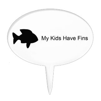 My Kids Have Fins (Fish) Cake Toppers