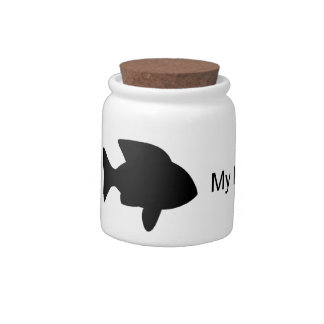 My Kids Have Fins (Fish) Candy Jar