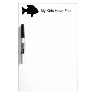 My Kids Have Fins (Fish) Dry-Erase Whiteboards