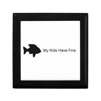 My Kids Have Fins (Fish) Jewelry Boxes