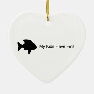 My Kids Have Fins (Fish) Ornament