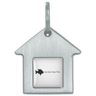 My Kids Have Fins (Fish) Pet Name Tags