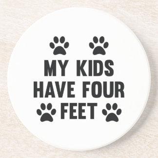 My Kids Have Four Feet Beverage Coaster
