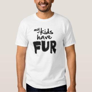 My kids have fur shirt