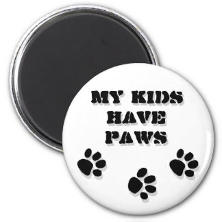 My kids have paws magnets
