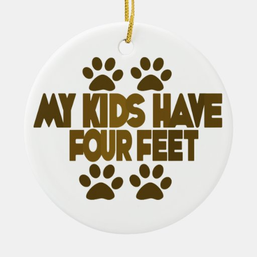 My Kids Double-Sided Ceramic Round Christmas Ornament