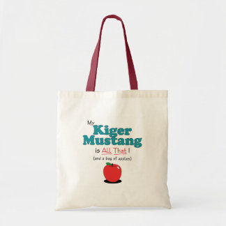 My Kiger Mustang is All That! Funny Horse Tote Bags