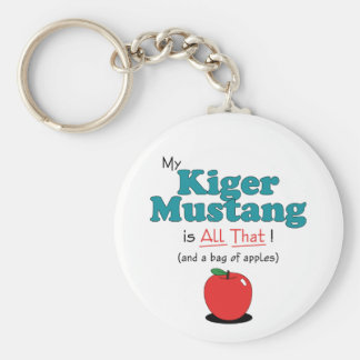 My Kiger Mustang is All That! Funny Horse Basic Round Button Keychain