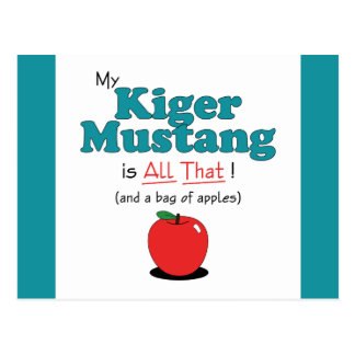 My Kiger Mustang is All That! Funny Horse Postcards