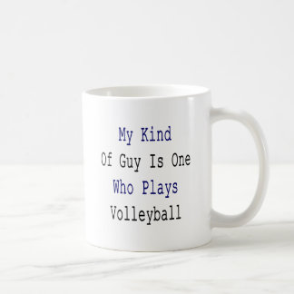 My Kind Of Guy Is One Who Plays Volleyball Mugs
