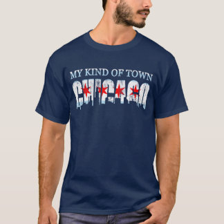 My Kind Of Town Chicago Flag Skyline T-Shirt