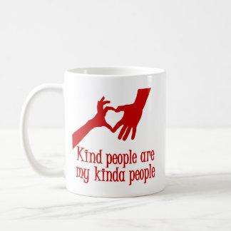 MY KINDA PEOPLE, red Coffee Mug