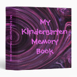 My Kindergarten Memory Book 3 Ring Binder