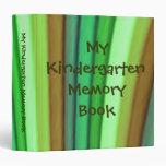 My Kindergarten Memory Book 3 Ring Binder