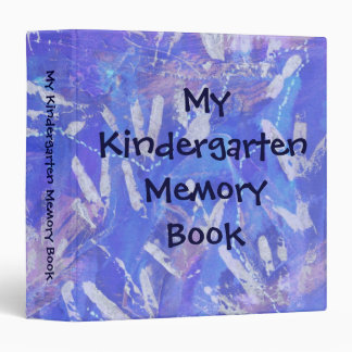 My Kindergarten Memory Book 3 Ring Binders