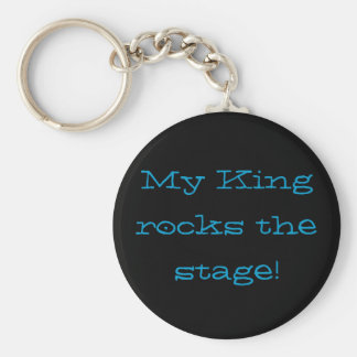 My King rocks the stage! Keychain