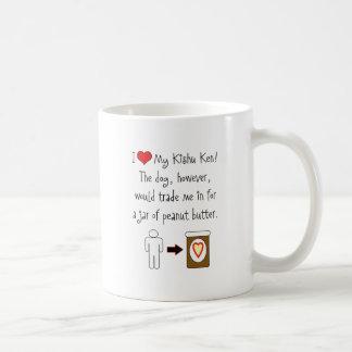 My Kishu Ken Loves Peanut Butter Coffee Mug
