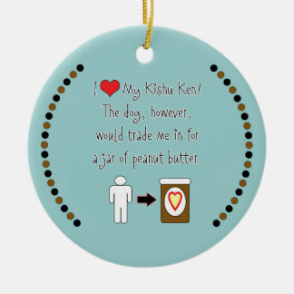 My Kishu Ken Loves Peanut Butter Christmas Ornament