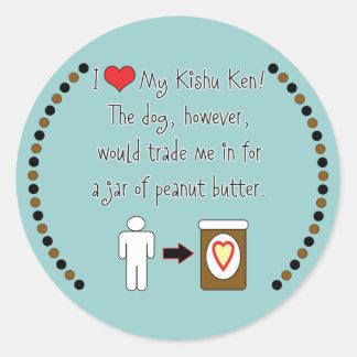 My Kishu Ken Loves Peanut Butter Sticker
