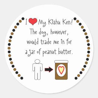 My Kishu Ken Loves Peanut Butter Stickers