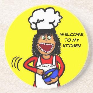 My Kitchen Cartoon Beverage Coasters