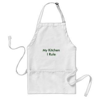 My Kitchen I Rule Adult Apron