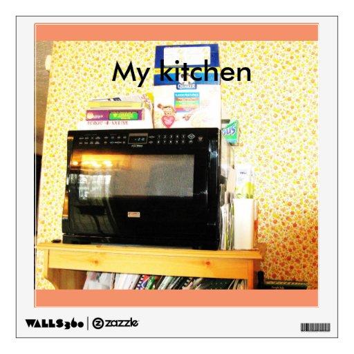 My Kitchen Wall Decor : Quot my kitchen microwave wall decor sticker zazzle