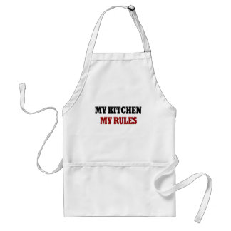 My kitchen My Rules Adult Apron