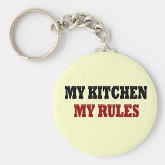 My kitchen My Rules Basic Round Button Keychain