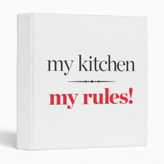 My Kitchen, My Rules Binder