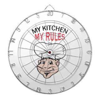 MY KITCHEN MY RULES DART BOARD