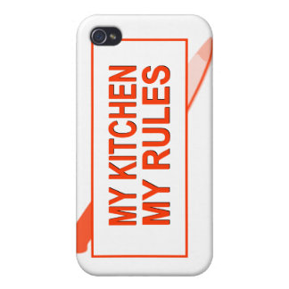 My Kitchen. My Rules. Fun Design for Kitchen Boss iPhone 4 Cases