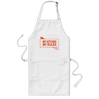 My Kitchen. My Rules. Fun Design for Kitchen Boss Long Apron