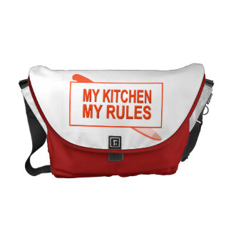 My Kitchen. My Rules. Fun Design for Kitchen Boss Messenger Bag