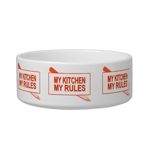 My Kitchen. My Rules. Fun Design for Kitchen Boss Pet Water Bowl