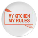 My Kitchen. My Rules. Fun Design for Kitchen Boss Dinner Plate