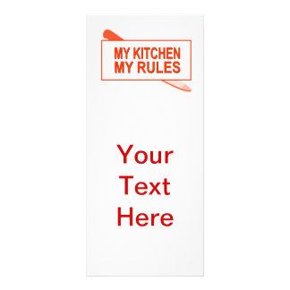 My Kitchen. My Rules. Fun Design for Kitchen Boss Rack Card