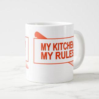 My Kitchen. My Rules. Fun Design for Kitchen Boss 20 Oz Large Ceramic Coffee Mug