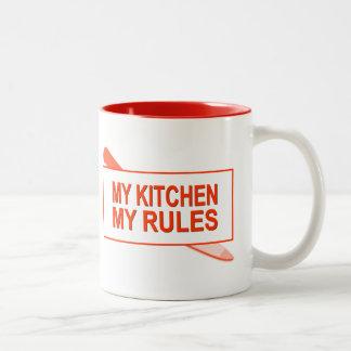 My Kitchen. My Rules. Fun Design for Kitchen Boss Two-Tone Coffee Mug