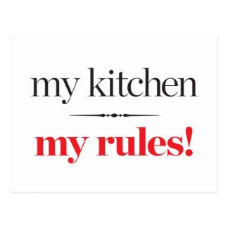 My Kitchen, My Rules Postcard
