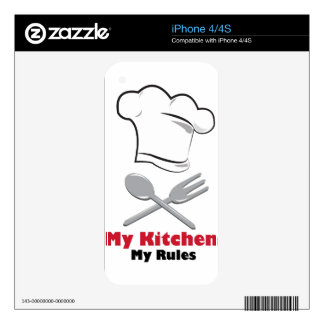 My Kitchen My Rules iPhone 4 Decals